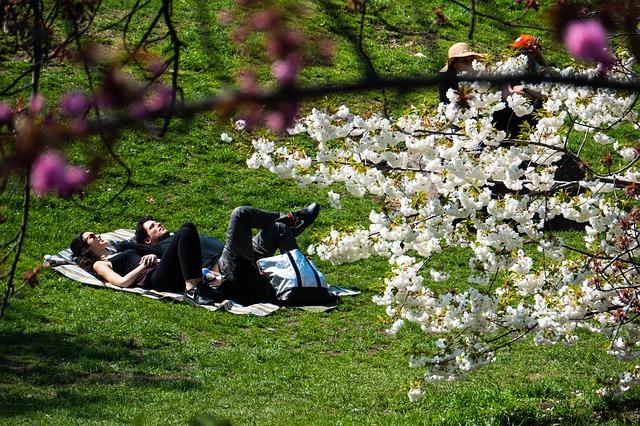 Flirten im Frühling